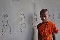 Novice Monk at Angkor Wat Siem Reap