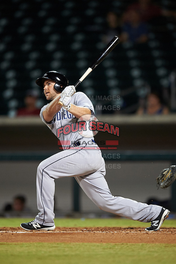 Peoria Javelinas Michael Gettys (23), of the San Diego Padres organization, hits a home run during a game against the Mesa Solar Sox on October 15, 2016 at Sloan Park in Mesa, Arizona.  Peoria defeated Mesa 12-2.  (Mike Janes/Four Seam Images)