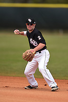 Saint Joseph's Hawks second baseman Taylor Boyd (2) during practice before a game against the Indiana Hoosiers on March 7, 2015 at North Charlotte Regional Park in Port Charlotte, Florida.  Indiana defeated Saint Joseph's 3-2.  (Mike Janes/Four Seam Images)