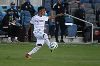 SAN JOSE, CA - NOVEMBER 04: Latif Blessing #7 of the Los Angeles FC traps the ball during a game between Los Angeles FC and San Jose Earthquakes at Earthquakes Stadium on November 04, 2020 in San Jose, California.