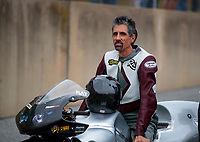 Sep 13, 2019; Mohnton, PA, USA; NHRA pro stock motorcycle rider Ronald Tornow during qualifying for the Keystone Nationals at Maple Grove Raceway. Mandatory Credit: Mark J. Rebilas-USA TODAY Sports