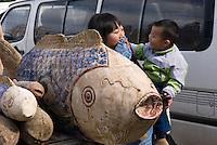 China, Peking (Beijing), auf dem Panjiayuan -Markt, Panjiayuan Lu/Dongsanhuan Nanlu, Skulpturen