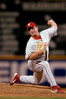 3 September 2005: Aaron Fultz, pitcher for the Philadelphia Phillies, on the mound during a game against the Washington Nationals. The Nationals defeated the Phillies 5-4 at RFK Stadium in Washington, DC. <br />