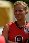 GER - Hannover, Germany, May 30: During the Women Lacrosse Playoffs 2015 match between DHC Hannover (black) and SC Frankfurt 1880 (red) on May 30, 2015 at Deutscher Hockey-Club Hannover e.V. in Hannover, Germany. Final score 23:3. (Photo by Dirk Markgraf / www.265-images.com) *** Local caption *** Jaana Mattwig #9 of SC 1880 Frankfurt