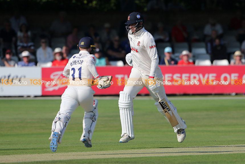 Paul Walter (R) and Adam Wheater add to the Essex total during Essex CCC vs Gloucestershire CCC, LV Insurance County Championship Division 2 Cricket at The Cloudfm County Ground on 5th September 2021