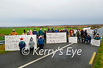 Residents from Ballyduff and Lixnaw standing at Ballinagare Bog on Saturday morning who are concerned about the proposed site of a Wind Farm in the Lixnaw area.