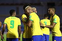 17th November 2020; Centenario Stadium, Montevideo, Uruguay; Fifa World Cup 2022 Qualifying football; Uruguay versus Brazil; Richarlison  of Brazil celebrates his goal in the 45th for minute 0-2