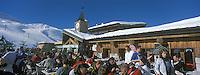 Europe/France/73/Savoie/Val d Isere: au sommet du telecabine de la Daille 2290m Chalet d altitude- la Folie Douce self et La Fruitiere restaurant établissements de Luc Reversade