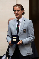Italy trainer Roberto Mancini during the official visit of the football Italy National team, after winning the UEFA Euro 2020 Championship.<br /> Rome (Italy), July 12th 2021<br /> Photo Pool Augusto Casasoli Insidefoto