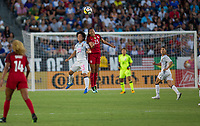 Carson, CA - Thursday August 03, 2017: Yuika Sugasawa, Christen Press during a 2017 Tournament of Nations match between the women's national teams of the United States (USA) and Japan (JAP) at StubHub Center.