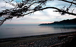 Dawn looking west over the Strait of Juan de Fuca from French Beach, Vancouver Island British Columbia.