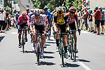 The 34 man breakaway group led by Polka Dot Jersey Tim Wellens (BEL) Lotto-Soudal during Stage 18 of the 2019 Tour de France running 208km from Embrun to Valloire, France. 25th July 2019.<br /> Picture: ASO/Pauline Ballet | Cyclefile<br /> All photos usage must carry mandatory copyright credit (© Cyclefile | ASO/Pauline Ballet)
