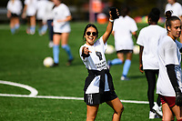 MONTCLAIR, NJ - OCTOBER 10: Caprice Dydasco #3 of Sky Blue FC poses for a picture before a game between Chicago Red Stars and Sky Blue FC at MSU Soccer Park at Pittser Field on October 10, 2020 in Montclair, New Jersey.