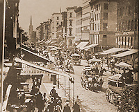 New York History:  Broadway and Duane, c. 1870.  Black's OLD NEW YORK, p. 70.  Reference only.