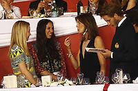 La Princesse Caroline de Hanovre, son fils AndrÈa Casiraghi, son Èpouse Tatiana et Alexandra de Hanovre durant le Longines proAm Cup Monaco dans le cadre du Jumping International de Monte Carlo 2016 le 24 juin 2016.