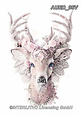 Carlie, REALISTIC ANIMALS, REALISTISCHE TIERE, ANIMALES REALISTICOS, paintings+++++,AUED06V,#A#, EVERYDAY ,deer,deers ,fantasy