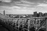 """Long Island City and Wueensboro bridge are the door to Queens facing the East River. the """"manhattanized"""" skyline will be further developed towards the interior of the borough as well it's opposite pole, Flushing.  New York City."""