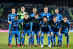 Players of Getafe CF line up and pose for a photo prior to the La Liga 2017-18 match between Getafe CF and Malaga CF at Coliseum Alfonso Perez on 12 January 2018 in Getafe, Spain. Photo by Diego Gonzalez / Power Sport Images