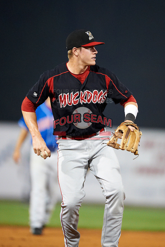 Batavia Muckdogs third baseman Patrick Wisdom #35 during the NY-Penn League All-Star Game at Eastwood Field on August 14, 2012 in Niles, Ohio.  National League defeated the American League 8-1.  (Mike Janes/Four Seam Images)