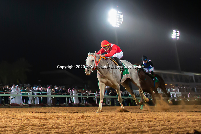 RIYADH,SAUDI ARABIA-FEB 29: New York Central,ridden by Irad Ortiz Jr,wins the Saudia Sprint at King Abdulaziz Racetrack on February 29,2020 in Riyadh,Saudi Arabia. Kaz Ishida/Eclipse Sportswire/CSM