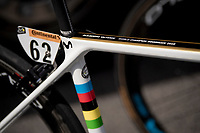 World Champion Alejandro Valverde (ESP/Movistar) - bike details<br /> <br /> Stage 4: Reims to Nancy (215km)<br /> 106th Tour de France 2019 (2.UWT)<br /> <br /> ©kramon