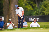 4th July 2021, Detroit, MI, USA;  Pat Perez (USA) chips on to 1 during the Rocket Mortgage Classic Rd4 at Detroit Golf Club on July 4,