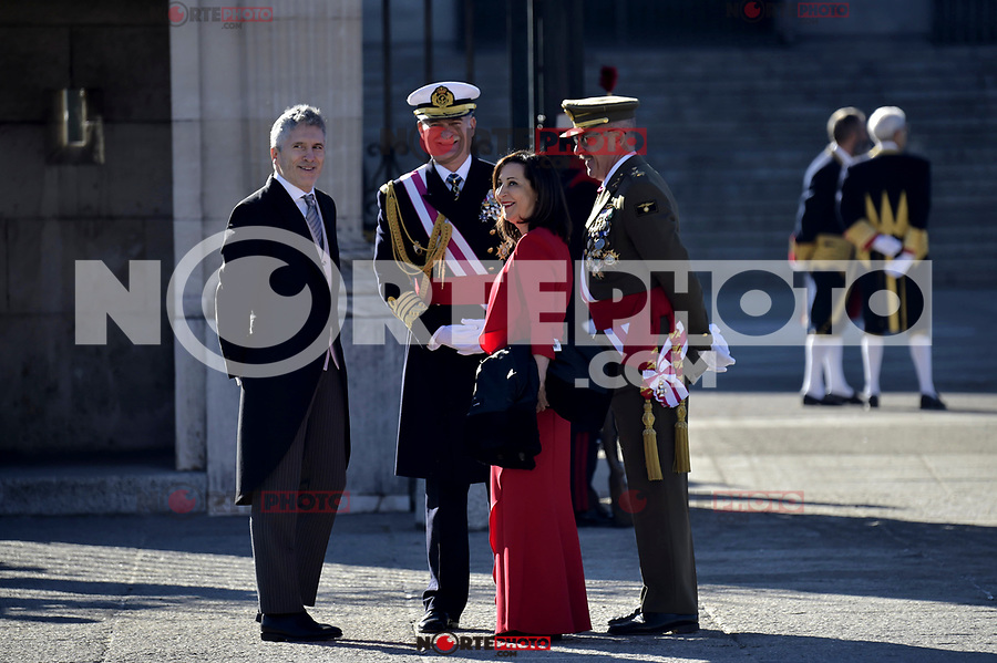 Fernando Grande-Marlaska and Margarita Robles attends to Pascua Militar at Royal Palace in Madrid, Spain. January 06, 2019. (ALTERPHOTOS/Pool) /NortePhoto.com