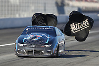 Feb 7, 2020; Pomona, CA, USA; NHRA pro stock driver Bo Butner during qualifying for the Winternationals at Auto Club Raceway at Pomona. Mandatory Credit: Mark J. Rebilas-USA TODAY Sports