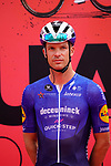 Iljo Keisse (BEL) Deceuninck-Quick Step at sign on before the start of Stage 5 of the 2021 UAE Tour running 170km from Fujairah to Jebel Jais, Fujairah, UAE. 25th February 2021.  <br /> Picture: Eoin Clarke   Cyclefile<br /> <br /> All photos usage must carry mandatory copyright credit (© Cyclefile   Eoin Clarke)
