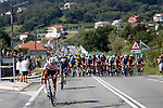 Stan Dewulf (BEL) AG2R Citroën Team escapes during Stage 20 of La Vuelta d'Espana 2021, running 202.2km from Sanxenxo to Mos, Spain. 4th September 2021.    <br /> Picture: Luis Angel Gomez/Photogomezsport | Cyclefile<br /> <br /> All photos usage must carry mandatory copyright credit (© Cyclefile | Luis Angel Gomez/Photogomezsport)