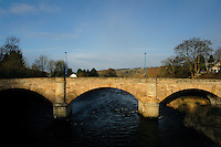 Garrion Bridge and the River Clyde near Rosebank on the Clyde Valley, South Lanarkshire<br /> <br /> Copyright www.scottishhorizons.co.uk/Keith Fergus 2011 All Rights Reserved