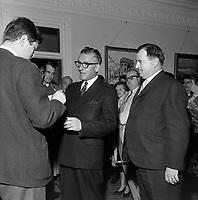 Real Caouette, <br /> chef du mouvement creditiste quebecois, le  4 octobre 1965<br /> <br /> Photo : Photo Moderne - © Agence Quebec Presse