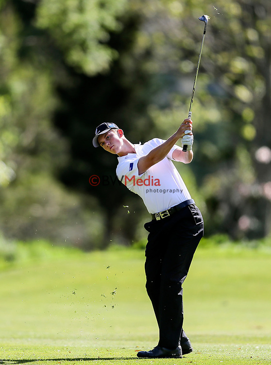 Daniel Hillier of New Zealand during the Asia Pacific Amateur Golf Championship Round Two, Royal Wellington Golf Course, Wellington, New Zealand, 27 October2017.  Photo: Simon Watts/www.bwmedia.co.nz