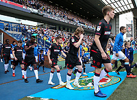 Bolton Wanderers' players take to the pitch<br /> <br /> Photographer Andrew Kearns/CameraSport<br /> <br /> The EFL Sky Bet Championship - Blackburn Rovers v Bolton Wanderers - Monday 22nd April 2019 - Ewood Park - Blackburn<br /> <br /> World Copyright © 2019 CameraSport. All rights reserved. 43 Linden Ave. Countesthorpe. Leicester. England. LE8 5PG - Tel: +44 (0) 116 277 4147 - admin@camerasport.com - www.camerasport.com