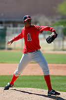 Manaurys Correa - Los Angeles Angels - 2009 spring training.Photo by:  Bill Mitchell/Four Seam Images