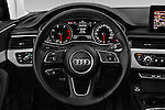Car pictures of steering wheel view of a 2017 Audi A4 Sport 5 Door Wagon Steering Wheel