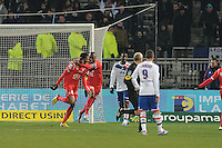 Joie de Jordan Loties et Andre Luiz (nancy)  .Football Calcio 2012/2013.Ligue 1 Francia.Foto Panoramic / Insidefoto .ITALY ONLY