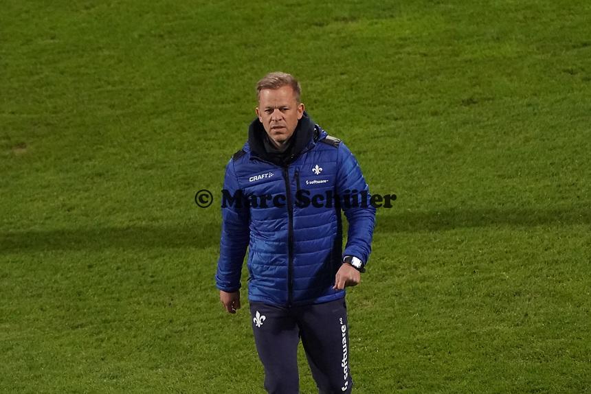 Trainer Markus Anfang (SV Darmstadt 98)<br /> <br /> - 26.02.2021 Fussball 2. Bundesliga, Saison 20/21, Spieltag 23, SV Darmstadt 98 - Karlsruher SC, Stadion am Boellenfalltor, emonline, emspor, <br /> <br /> Foto: Marc Schueler/Sportpics.de<br /> Nur für journalistische Zwecke. Only for editorial use. (DFL/DFB REGULATIONS PROHIBIT ANY USE OF PHOTOGRAPHS as IMAGE SEQUENCES and/or QUASI-VIDEO)