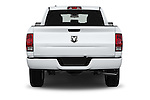 Straight rear view of 2016 Ram 1500 Express Express 4 Door Pickup Rear View  stock images