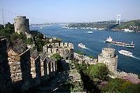 RUMELI HISARI FORTRESS ON THE BOSPHORUS, ISTANBUL, TURKEY