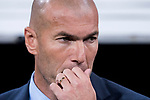 Manager Zinedine Zidane of Real Madrid prior to the La Liga 2017-18 match between Real Madrid and Valencia CF at the Estadio Santiago Bernabeu on 27 August 2017 in Madrid, Spain. Photo by Diego Gonzalez / Power Sport Images