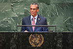 General Assembly Seventy-third session, 14th plenary meeting<br /> <br /> <br /> His Excellency Denis MOSESMinister for Foreign and CARICOM Affairs of Trinidad and Tobago