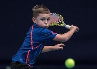 Hilversum, Netherlands, December 4, 2016, Winter Youth Circuit Masters, Kyvan Rietkerk (NED)<br /> Photo: Tennisimages/Henk Koster