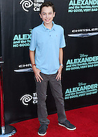 HOLLYWOOD, LOS ANGELES, CA, USA - OCTOBER 06: Hayden Byerly arrives at the World Premiere Of Disney's 'Alexander And The Terrible, Horrible, No Good, Very Bad Day' held at the El Capitan Theatre on October 6, 2014 in Hollywood, Los Angeles, California, United States. (Photo by Xavier Collin/Celebrity Monitor)