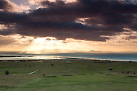 The East Lothian coastline, the Pentland Hills and Arthur's Seat from Gullane Hill, Gullane