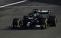 10th October 2020, Nuerburgring, Nuerburg, Germany; FIA Formula 1 Eifel Grand Prix, Qualifying sessions;  44 Lewis Hamilton GBR, Mercedes-AMG Petronas Formula One Team takes 2nd on grid