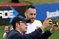 BOGOTA - COLOMBIA  - 25 – 03 – 2017: David Ospina (Der.) portero de la Seleccion Colombia, durante entrenamiento en La sede de La Federacion Colombiana de Futbol en Bogota. Colombia prepara para el próximo partido partido contra Ecuador para la calificificacion a la Copa Mundo FIFA 2018 Rusia. / David Ospina (R) goalkeeper of the Colombia Team, during training at the Headquarters of the Colombian Football Federation in Bogota. Colombia prepares for the upcoming game match against Ecuador for calificificacion to FIFA World Cup 2018 Russia. (Photo: VizzorImage / Luis Ramirez / Staff.)