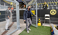 16th May 2020, Signal Iduna Park, Dortmund, Germany; Bundesliga football, Borussia Dortmund versus FC Schalke; 04 BVB Manager Sports Director Michael Zorc  in a Face Mask per the new DFL Rules arrives in the stadium