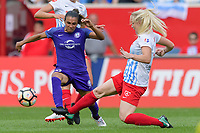 Bridgeview, IL - Saturday July 22, 2017: Marta Vieira Da Silva, Julie Ertz during a regular season National Women's Soccer League (NWSL) match between the Chicago Red Stars and the Orlando Pride at Toyota Park. The Red Stars won 2-1.