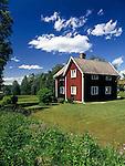Sweden, Province Dalarna, Swedish wooden house   Schweden, Provinz Dalarna, Schwedisches Wohnhaus